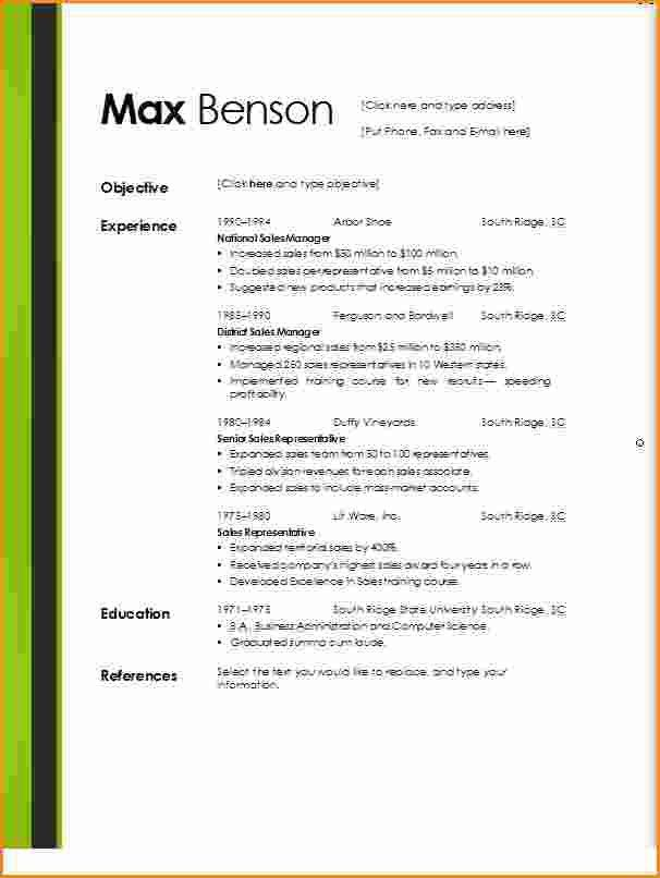 Resume Templates Word Doc. Download Resume Template For Microsoft ...