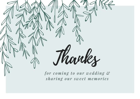 Printable Wedding Thank You Cards | Thank You Note Wording