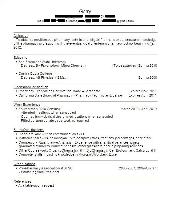 Best Resume For Hospital Pharmacist