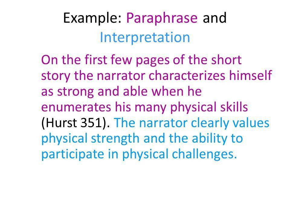 Paraphrasing and Using Quotations in the Body of Your Text - ppt ...