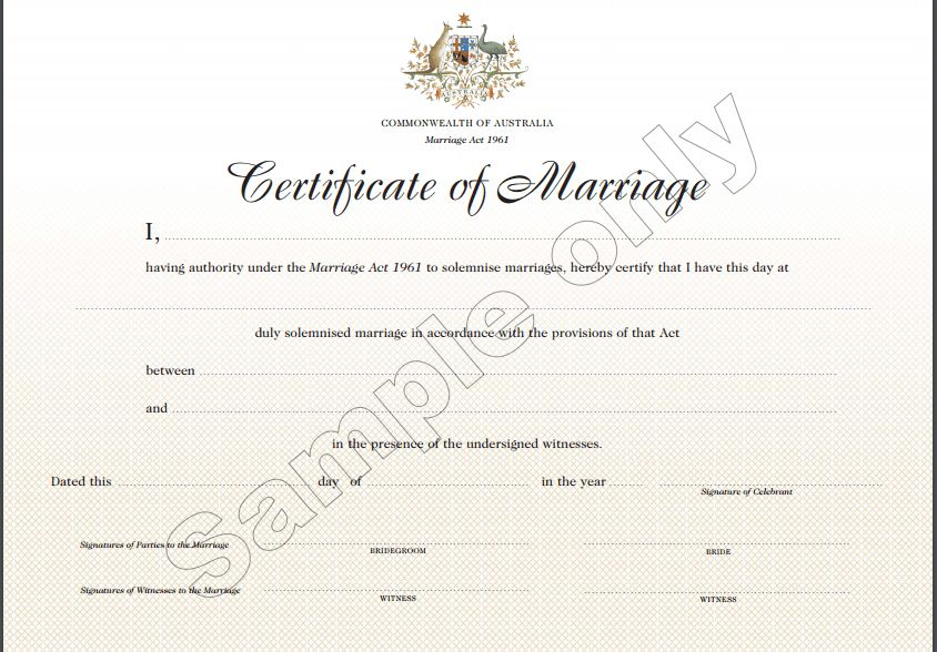 7 Marriage Certificate Templates - Certificate Templates