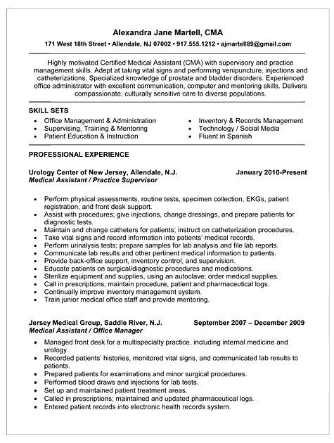 10 Summary For Medical Assistant Resume Resume entry level medical ...