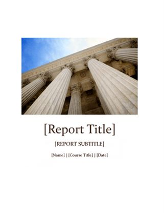 Student report with cover - Office Templates