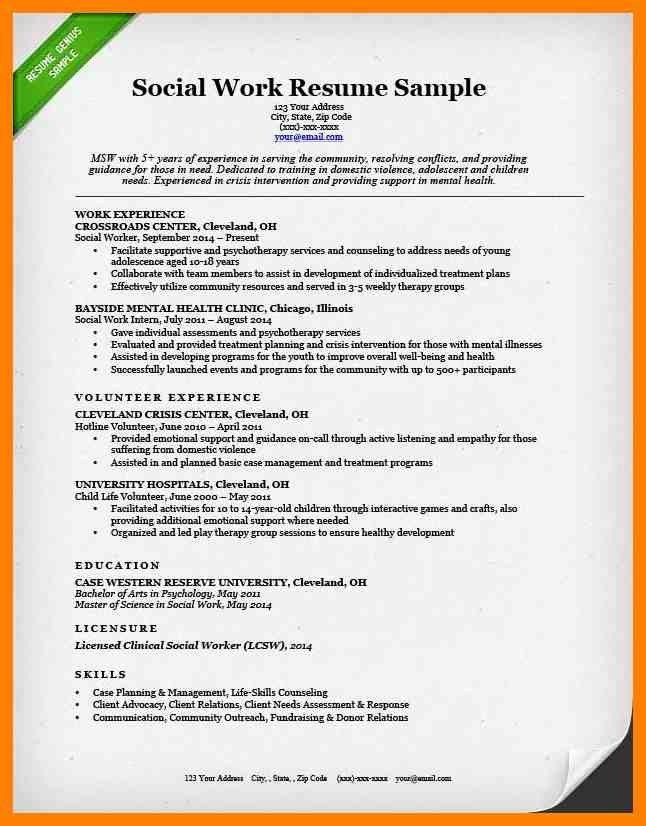sample resume for social worker social work resume sample writing
