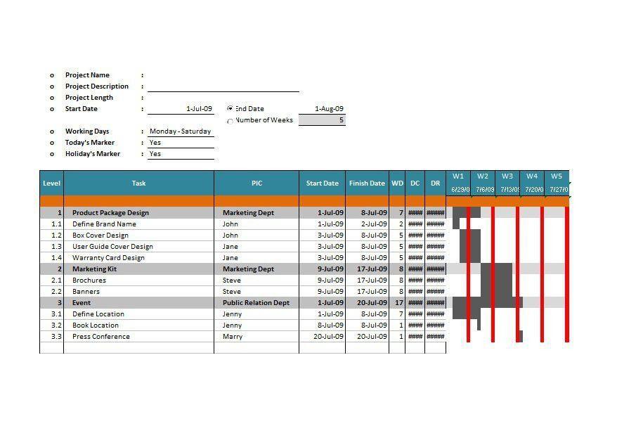 37 Free Gantt Chart Templates (Excel, PowerPoint, Word) – Free ...