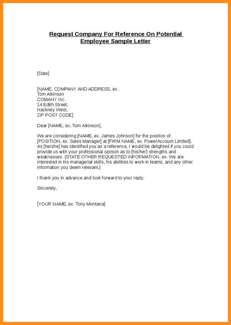 Company referral letter
