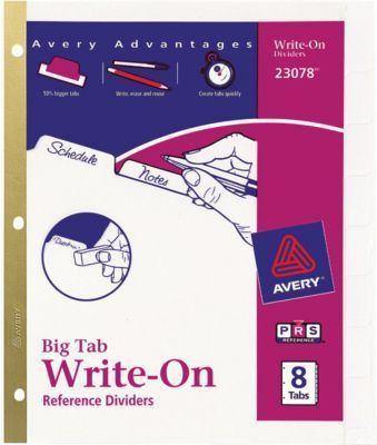 Avery Big Tab Template, 23078 | Quill.com