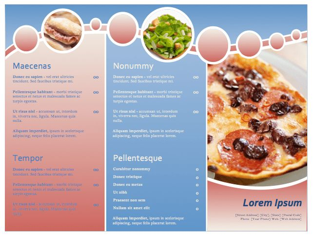 Restaurant Menu Template | Sample Format