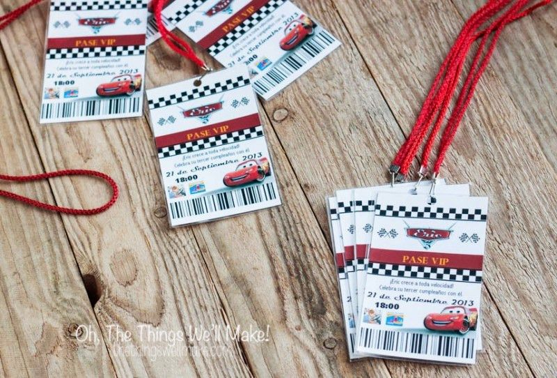 Homemade Cars Pit Pass Invitation Template and Tutorial - Oh, The ...