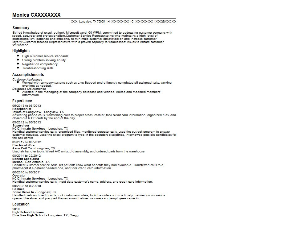 Automotive Receptionist Resume Sample | Quintessential LiveCareer