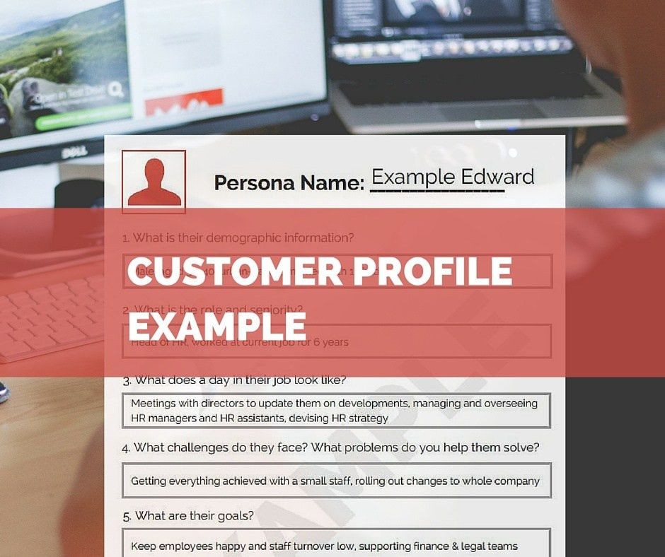 Simple & effective real world customer profile example
