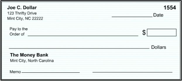 Blank Check Templates - Word Excel Samples