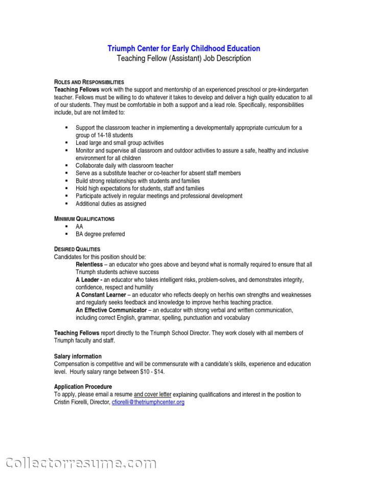 Preschool Head Teacher Cover Letter Sample | Docoments Ojazlink