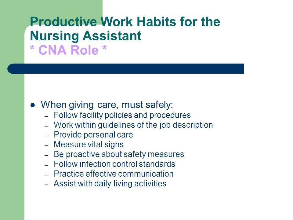 Certified Nursing Assistant - ppt video online download