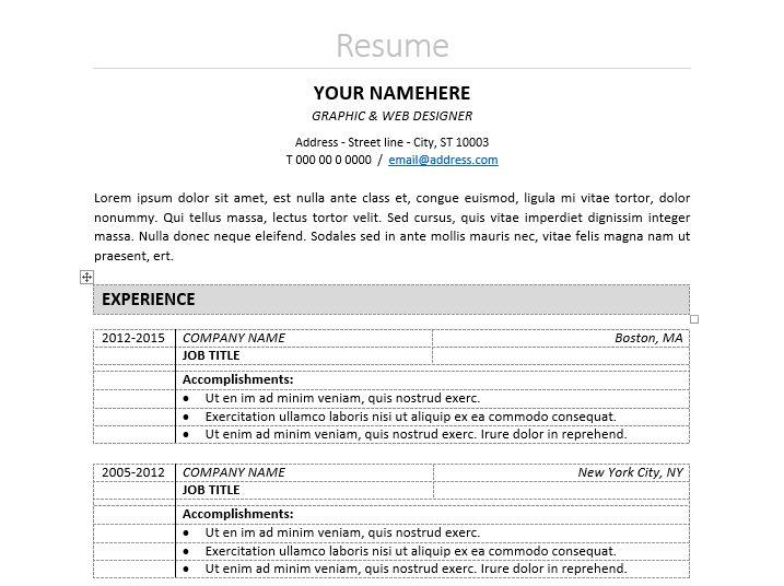 Nakameguro - Classic Elegant Resume Template