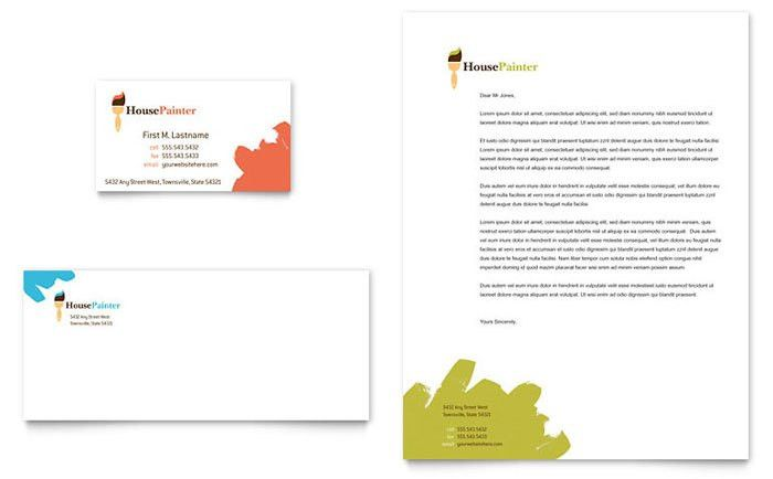 Painter & Painting Contractor Business Card & Letterhead Template ...