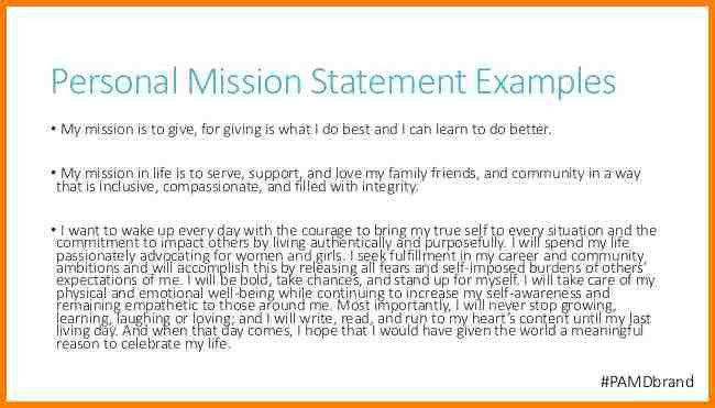 12+ examples of personal mission statements | attorney letterheads