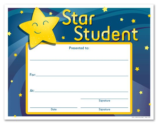28+ Star Student Certificate Template | Star Student Award ...