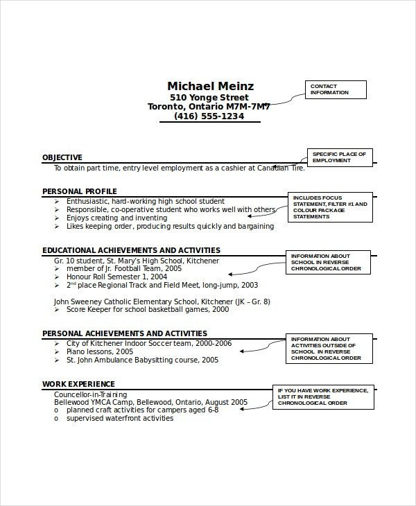 Babysitter Resume Template - 6+ Free Word, PDF Documents Download ...