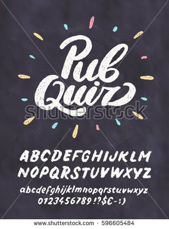Pub Quiz Chalkboard Sign Template Stock Vector 596605484 ...
