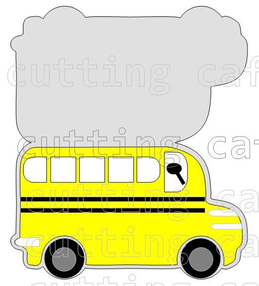 The Cutting Cafe': BUS SHAPED CARD....TEMPLATE - CUTTING FILE