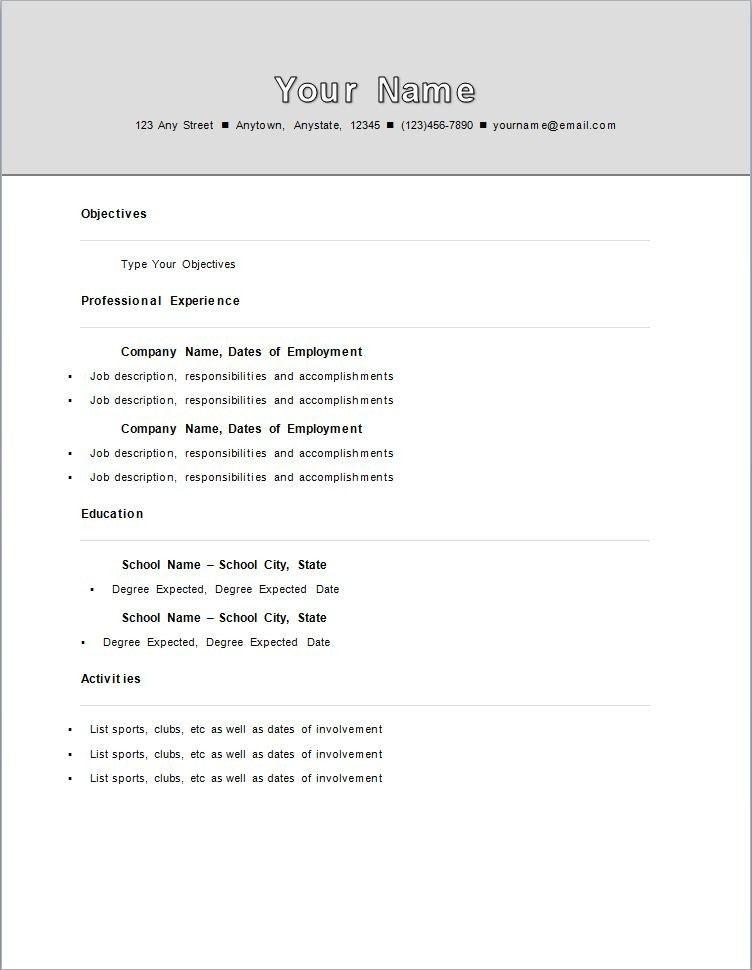 Help Me Write My First Resume   Contegri.com