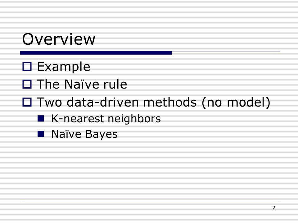 Classification Methods: k-Nearest Neighbor Naïve Bayes - ppt video ...