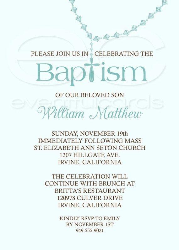 Baptism Invitations Wording – gangcraft.net