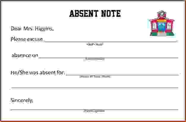 9 Doctors Note For School AbsenceAgenda Template Sample | Agenda ...