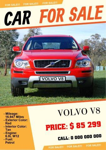 Car for Sale 2 poster template, How to make a Car for Sale 2 poster...