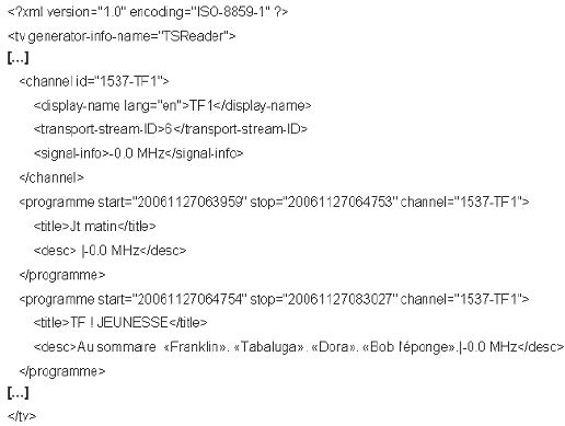 Example of an initial observation on TNT metadata The second ...