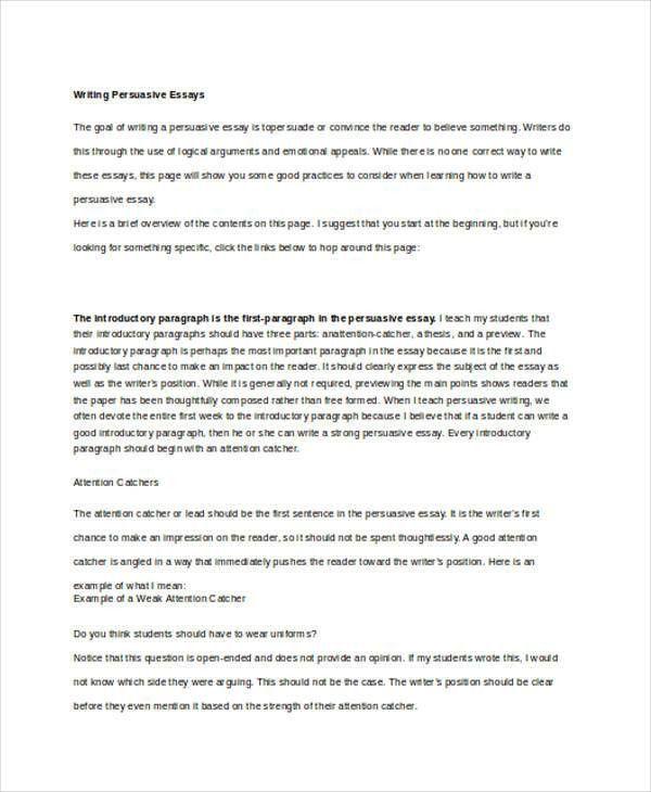 7+ Persuasive Writing Examples, Samples