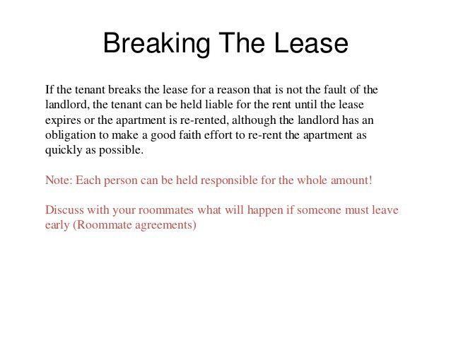 Tenant landlord presentation 1