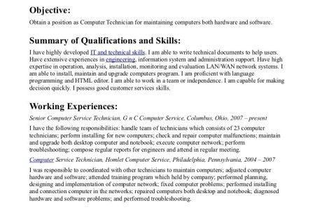 job description of computer technician computer technician job