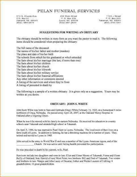 8+ obituary examples | academic resume template