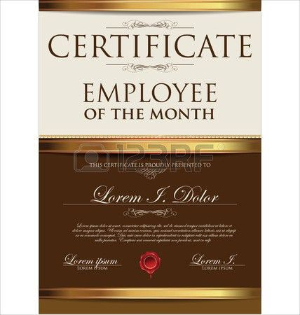 star of the month certificate format - Template