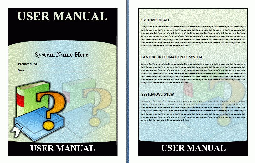 User Manual Template | Free Manual Templates