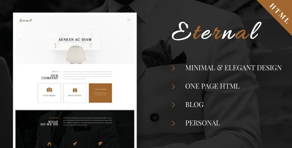 Eternal - Personal Elegant HTML Blog Template by ad-theme ...
