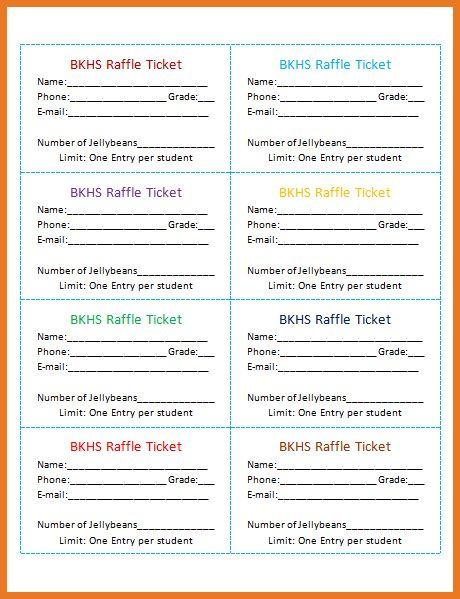 free printable raffle tickets | art resume skills