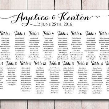 Wedding Seating Chart Template Download | from PaintTheDayDesigns