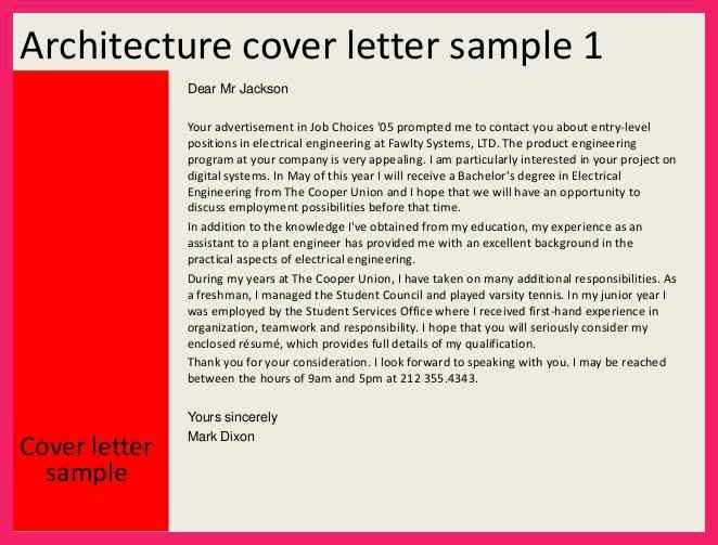 architecture cover letter | bio letter format