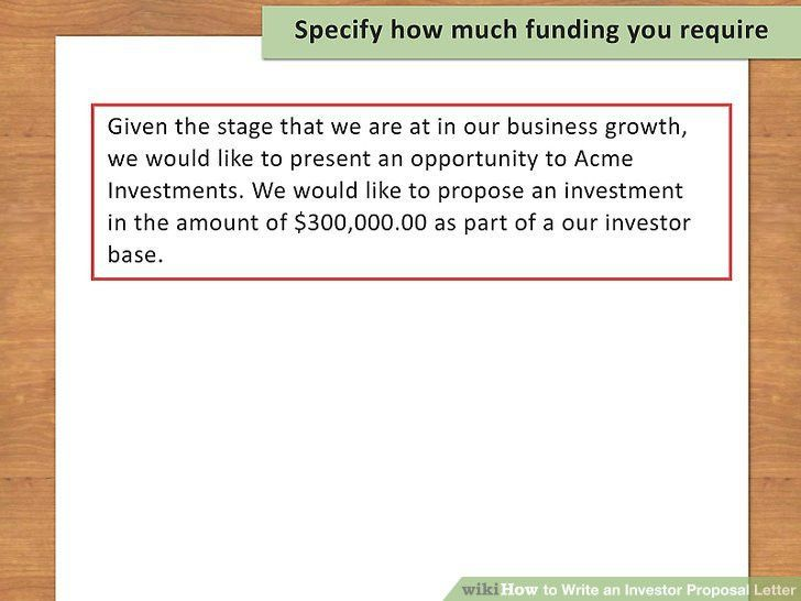 How to Write an Investor Proposal Letter (with Sample Letter)