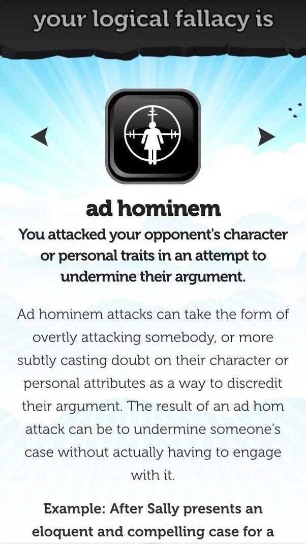 What are ad hominem fallacies? - Quora