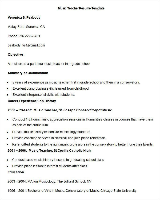 442 best Resume template images on Pinterest | Resume templates ...