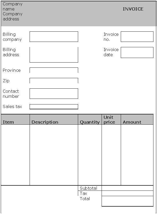 Office Invoice Templates : Invoice Templates