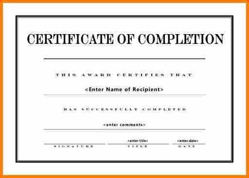 11+ certificate of completion template word | resume reference