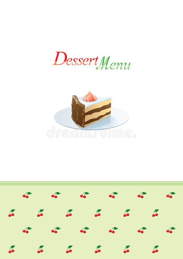 Dessert Menu Template Royalty Free Stock Photos - Image: 6727548