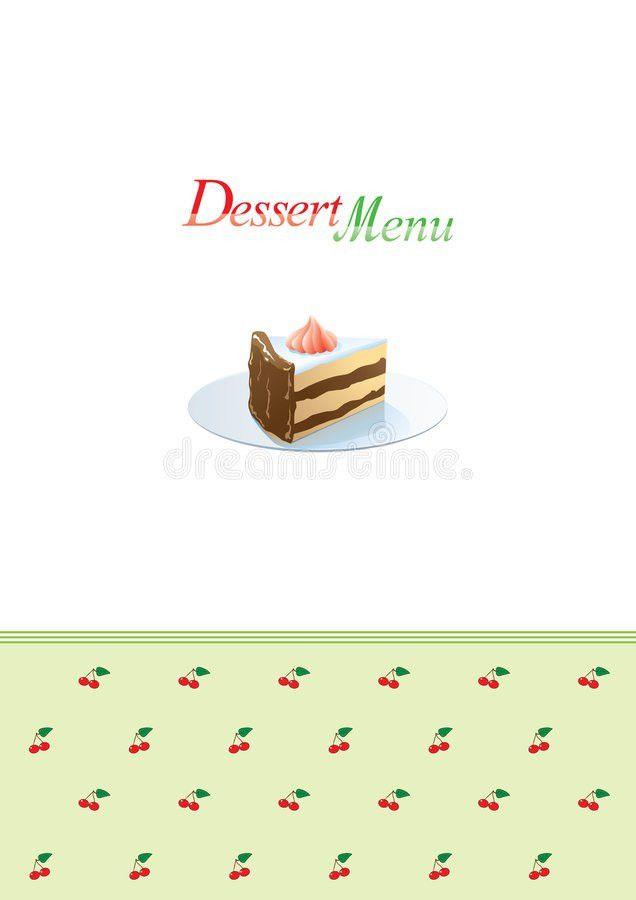 Dessert Menu Template Royalty Free Stock Photos - Image: 6727548
