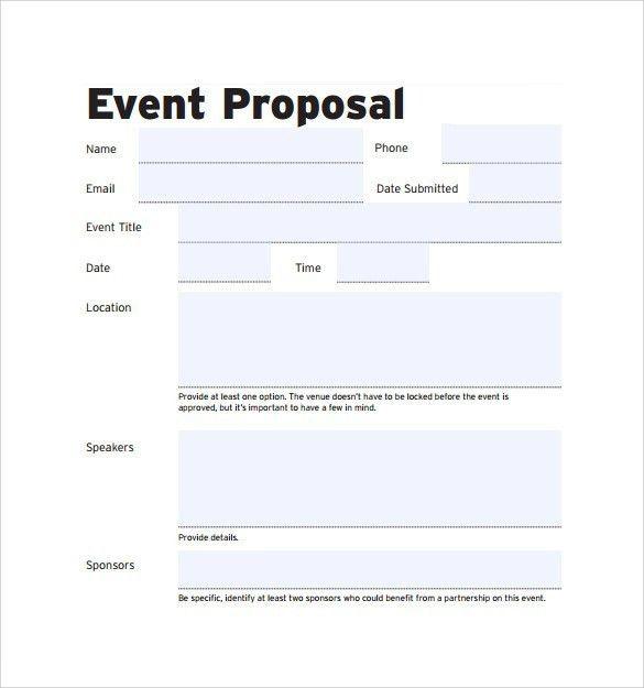 Event proposal format cvlook01.billybullock.us