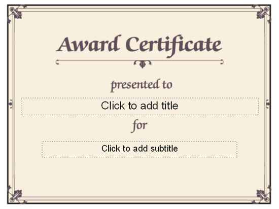 Best Minimalist Award Certificate Template Sample with Brown ...